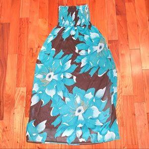 Cotton Express Exotic Billowy Strapless Dress